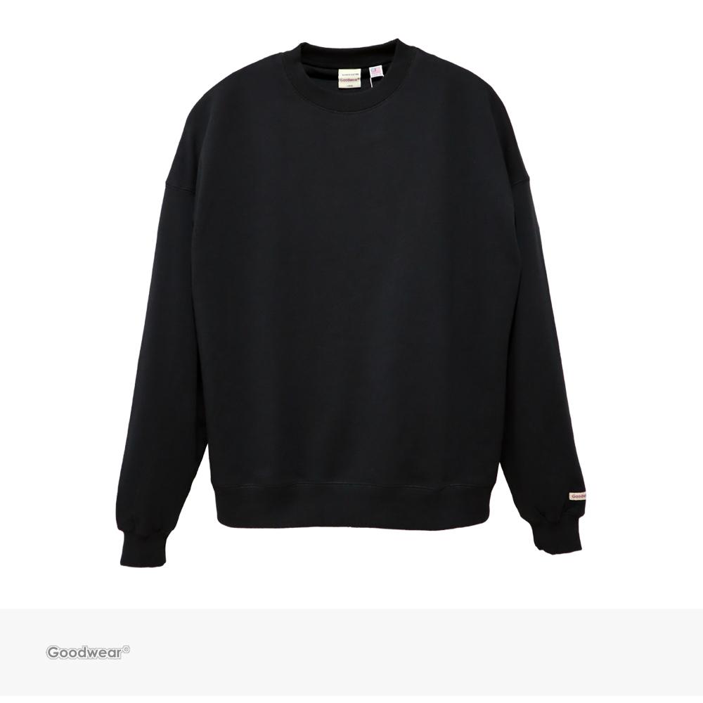Goodwear USA COTTON BIG CREW NECK SWEATSHIRT | BLACK / グッドウェア トレーナー