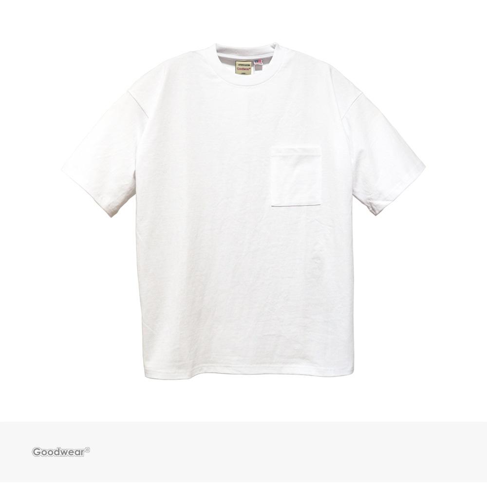 Goodwear USA COTTON BIG POCKET TEE | WHITE / グッドウェア Tシャツ