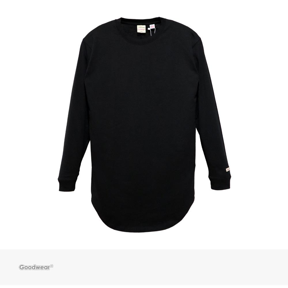Goodwear USA COTTON LONG LENGTH L/S TEE   BLACK / グッドウェア Tシャツ