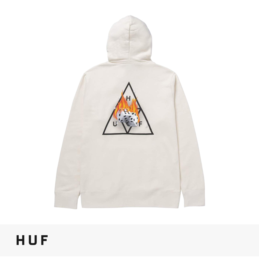 2021 FALL HUF HOT DICE TRIPLE TRIANGLE PULLOVER HOODIE   NATURAL / ハフ パーカー
