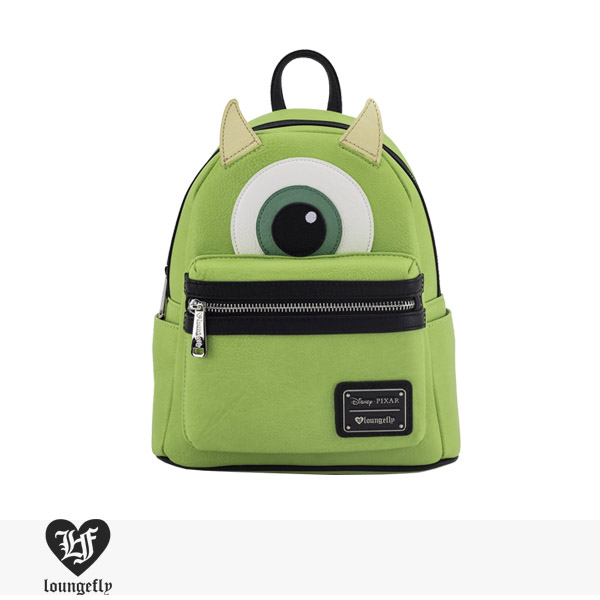LOUNGEFLY × DISNEY MONSTERS INC. MIKE MINI FAUX LEATHER BACKPACK / ラウンジフライ バッグ
