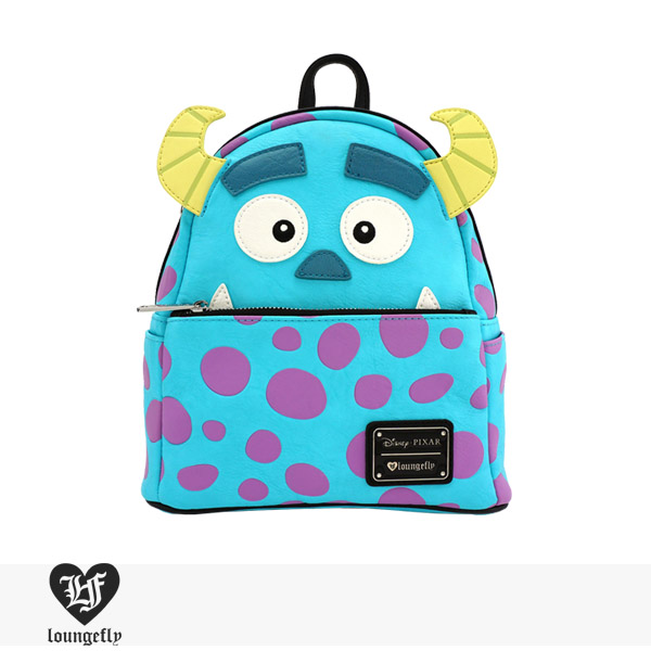 LOUNGEFLY × DISNEY MONSTERS INC. SULLY MINI FAUX LEATHER BACKPACK / ラウンジフライ バッグ