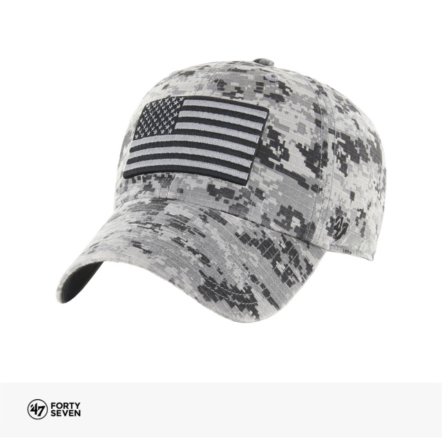 47BRAND USA FLAG FRONT DIGI '47 CLEAN UP | GRAY DIGITAL CAMO / フォーティーセブンブランド キャップ