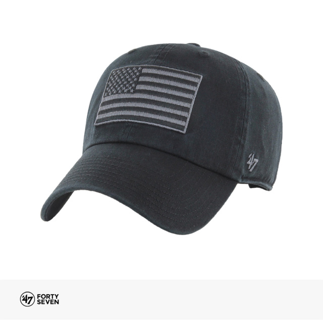 '47 USA FLAG HERITAGE FRONT BLACK '47 CLEAN UP | BLACK / フォーティーセブン キャップ