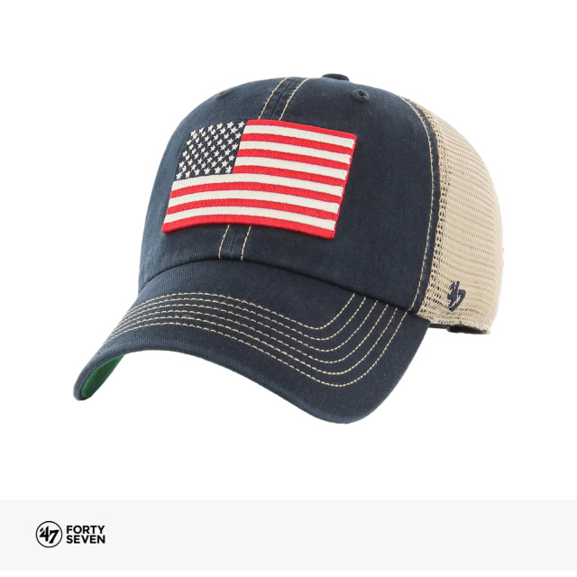 47BRAND USA FLAG TRAWLER BACK ARCH '47 CLEAN UP | NAVY / フォーティーセブンブランド キャップ