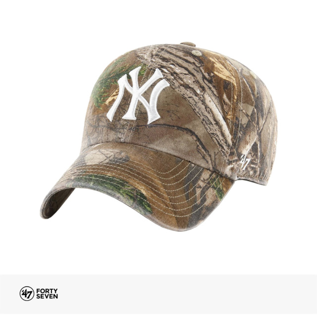 47BRAND YANKEES REAL TREE '47 CLEAN UP | CAMO / フォーティーセブンブランド キャップ