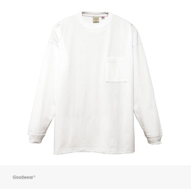 Goodwear USA COTTON SUPER BIG POCKET L/S TEE | WHITE / グッドウェア Tシャツ
