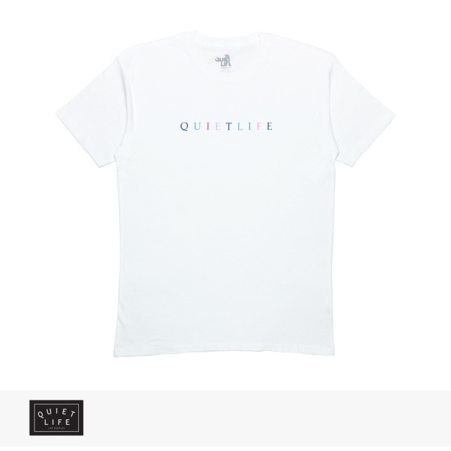 THE QUIET LIFE RAINBOW TEE PREMIUM | WHITE / クワイエットライフ Tシャツ