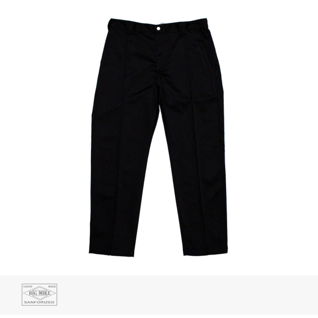 BIG MIKE PIN TACK CHINO PANT | BLACK / ビッグマイク パンツ