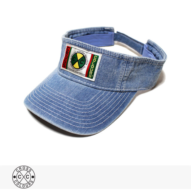 CROSS COLOURS CLASSIC WOVEN LABEL VISOR | VINTAGE INDIGO / クロスカラーズ バイザー