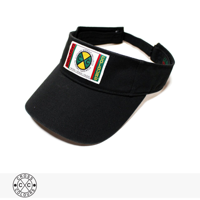 CROSS COLOURS CLASSIC WOVEN LABEL VISOR | BLACK / クロスカラーズ バイザー