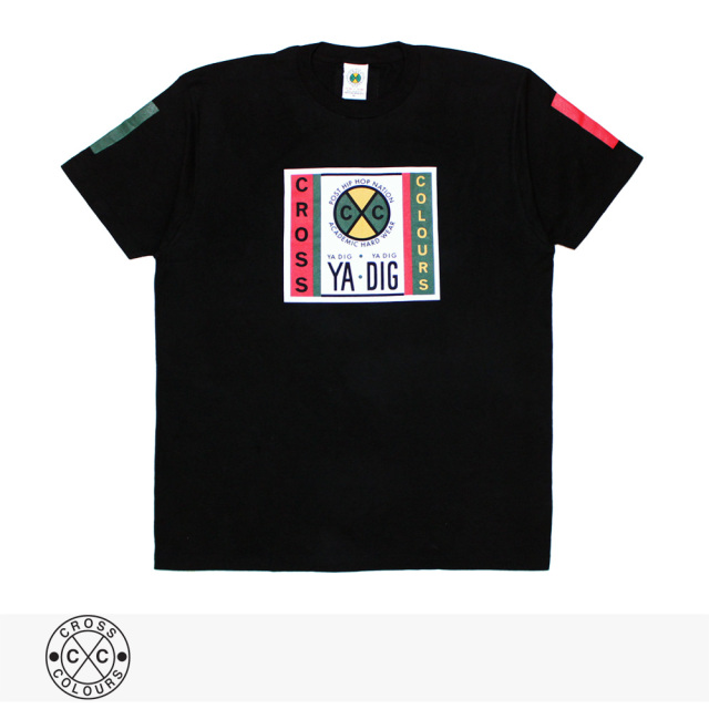 2019 S/S CROSS COLOURS LABEL LOGO T-SHIRT | BLACK / クロスカラーズ Tシャツ