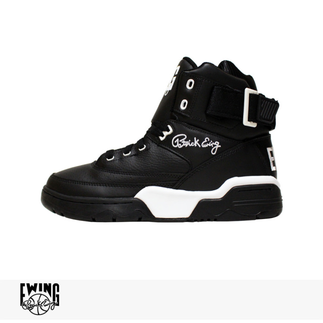 EWING ATHLETICS 33 HI | BLACK LEATHER | WHITE / ユーイング アスレチックス