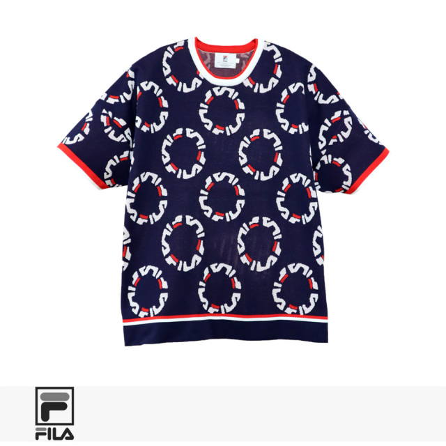 2020 S/S FILA HERITAGE JACQUARD KNIT CREW NECK SHIRTS / フィラヘリテージ Tシャツ