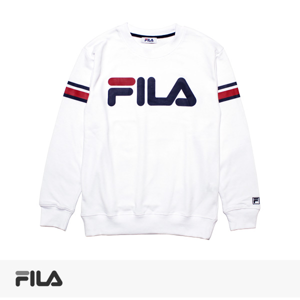 2017 SPRING FILA LINE PRINT SWEAT | WHITE / フィラ スウェット