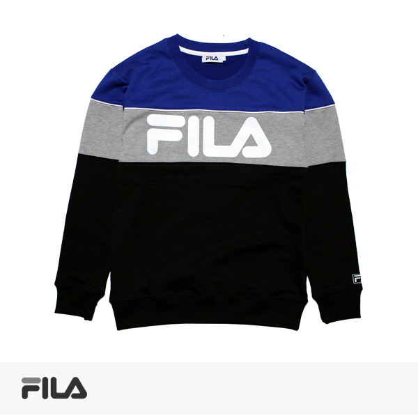 2017 SPRING FILA BICOLOR SWEAT | BLACK / フィラ スウェット