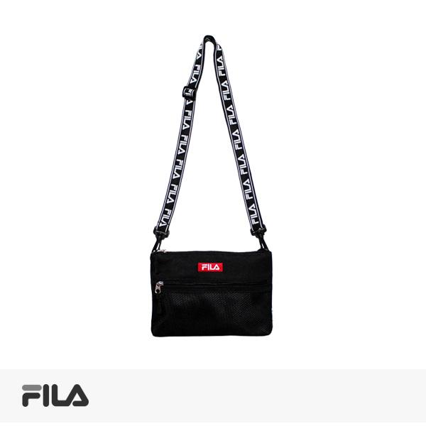 FILA LOGO TAPE SACOCHE | BLACK / フィラ バッグ