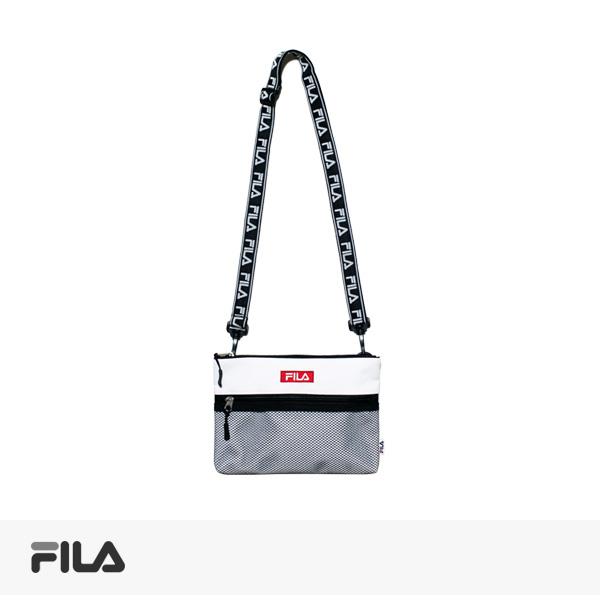 FILA LOGO TAPE SACOCHE | WHITE / フィラ バッグ