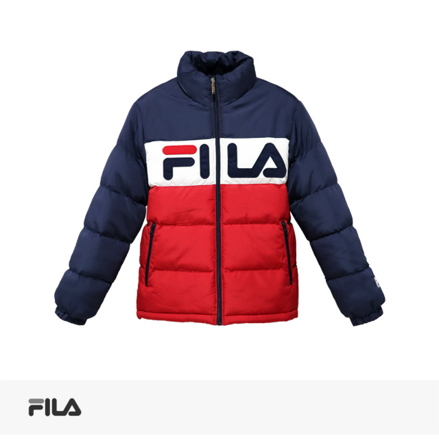 FILA COLOR BLOCK STAND PUFFY JACKET / フィラ ジャケット