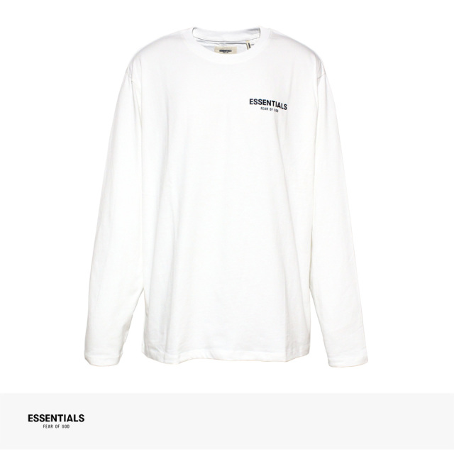 FOG ESSENTIALS BOXY LOGO LONG SLEEVE T-SHIRT | WHITE / エフオージー エッセンシャルズ Tシャツ