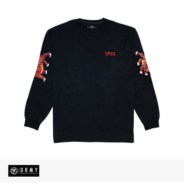 2018 F/W GRIMEY SHAMBALA LONG SLEEVE TEE | BLACK / グライミー Tシャツ