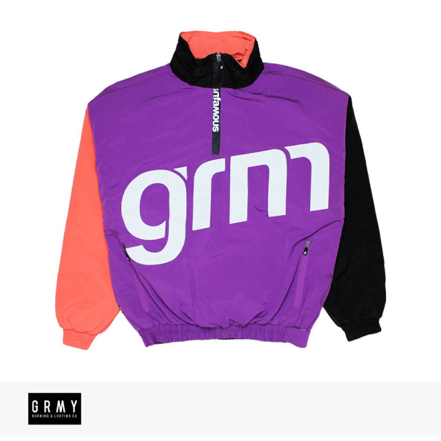 GRIMEY FLAMBOYANT PULLOVER JACKET | PURPLE / グライミー ジャケット