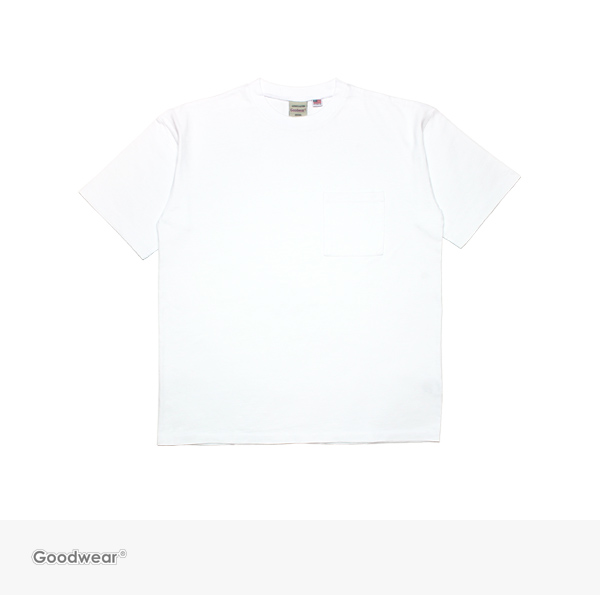 2018 S/S GOODWEAR BIG POCKET TEE | WHITE / グッドウェア Tシャツ