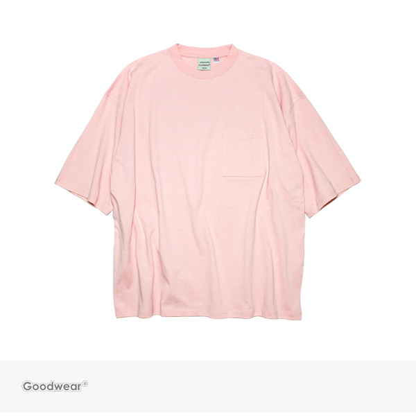 Goodwear SUPER BIG POCKET TEE | PINK / グッドウェア Tシャツ