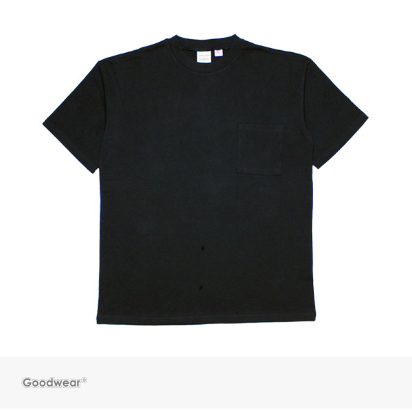 Goodwear USA COTTON BIG POCKET TEE | BLACK / グッドウェア Tシャツ