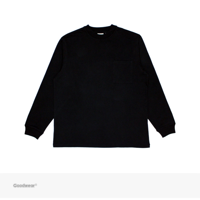Goodwear USA COTTON POCKET L/S TEE | BLACK / グッドウェア Tシャツ