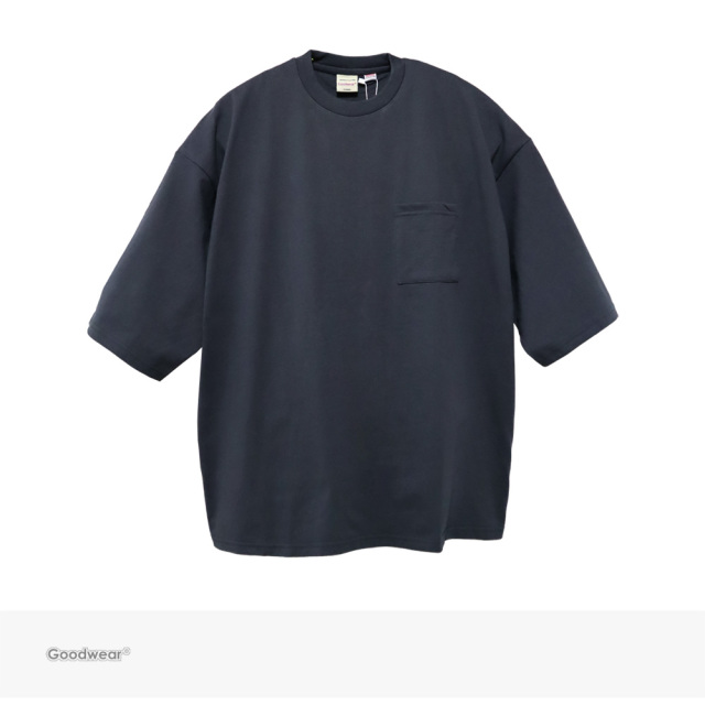 Goodwear USA COTTON SUPER BIG POCKET TEE | CHARCOAL / グッドウェア Tシャツ