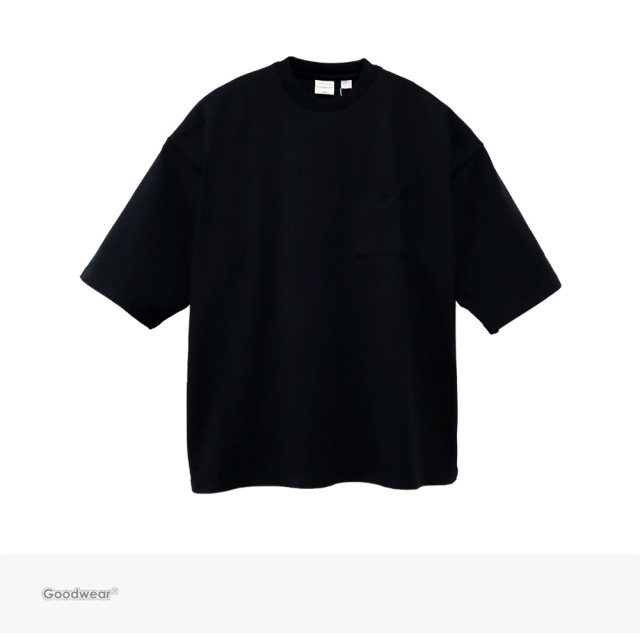 Goodwear USA COTTON SUPER BIG POCKET TEE | BLACK / グッドウェア Tシャツ