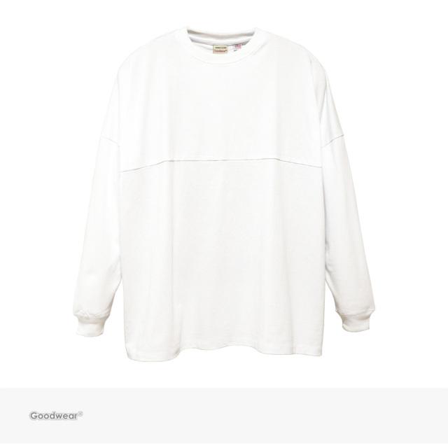 Goodwear USA COTTON FOOTBALL SUPER BIG L/S TEE   WHITE / グッドウェア Tシャツ