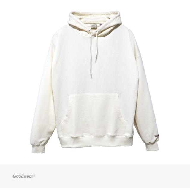 Goodwear USA COTTON BIG PULLOVER HOODIE | OFF WHITE / グッドウェア パーカー