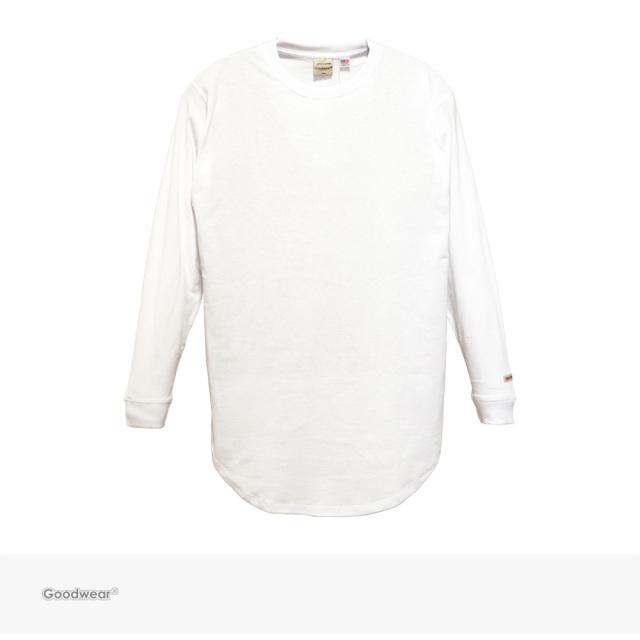 Goodwear USA COTTON LONG LENGTH L/S TEE | WHITE / グッドウェア Tシャツ