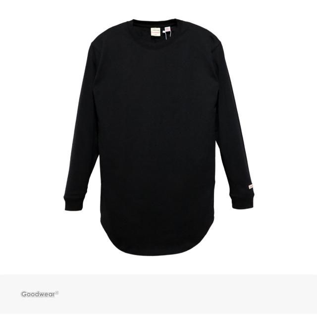 Goodwear USA COTTON LONG LENGTH L/S TEE | BLACK / グッドウェア Tシャツ