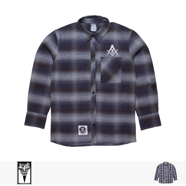 HEX ANTISTYLE CHECK LONG SLEEVE SHIRT/SOCIETY 6 / ヘックスアンチスタイル シャツ