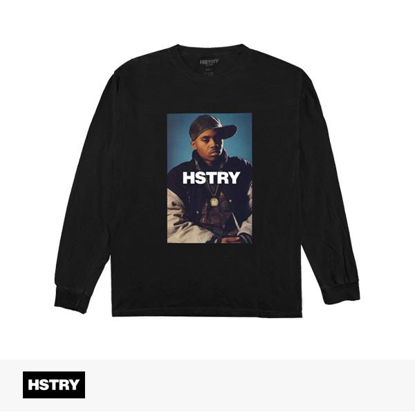 2017 FALL HSTRY PORTRAIT L/S TEE | BLACK / ヒストリー Tシャツ