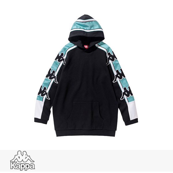 2018 S/S KAPPA BANDA COLLECTION PULLOVER SWEAT HOODIE | BLACK / カッパ パーカー