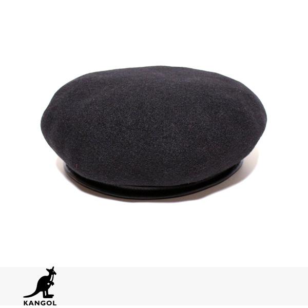 KANGOL WOOL MONTY | BLACK / カンゴール ベレー帽
