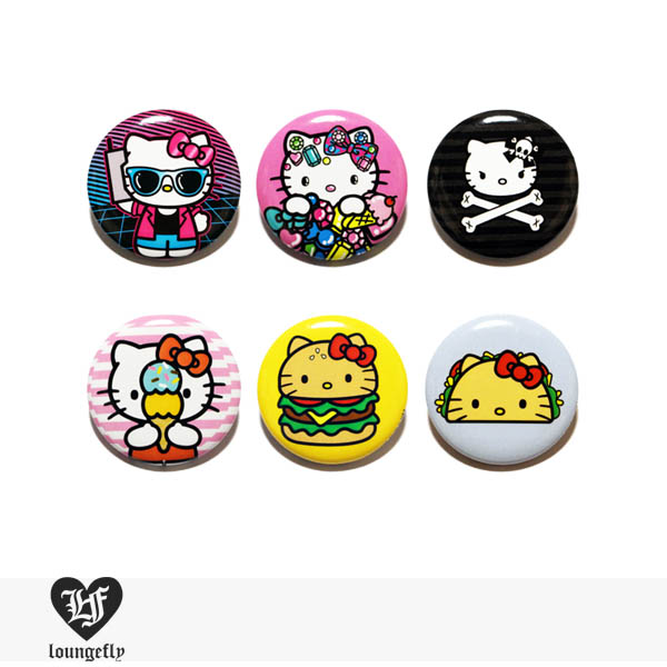 LOUNGEFLY × SANRIO HELLO KITTY PIN 【C】 / ラウンジフライ 缶バッチ