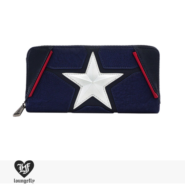 LOUNGEFLY × MARVEL CAPTAIN AMERICA COSPLAY WALLET / ラウンジフライ ウォレット