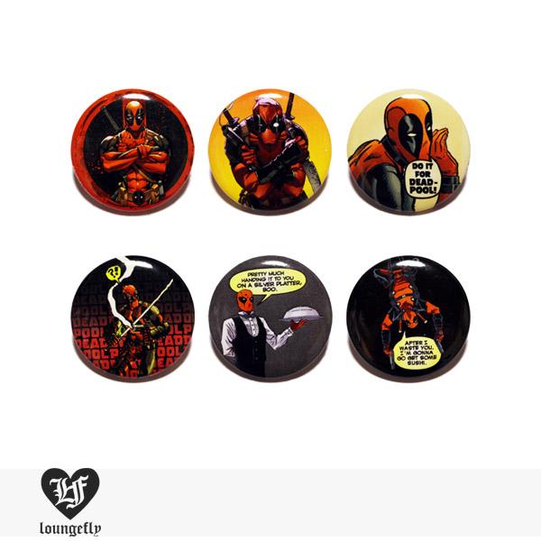LOUNGEFLY × MARVEL DEAD POOL PIN 【D】 / ラウンジフライ 缶バッチ