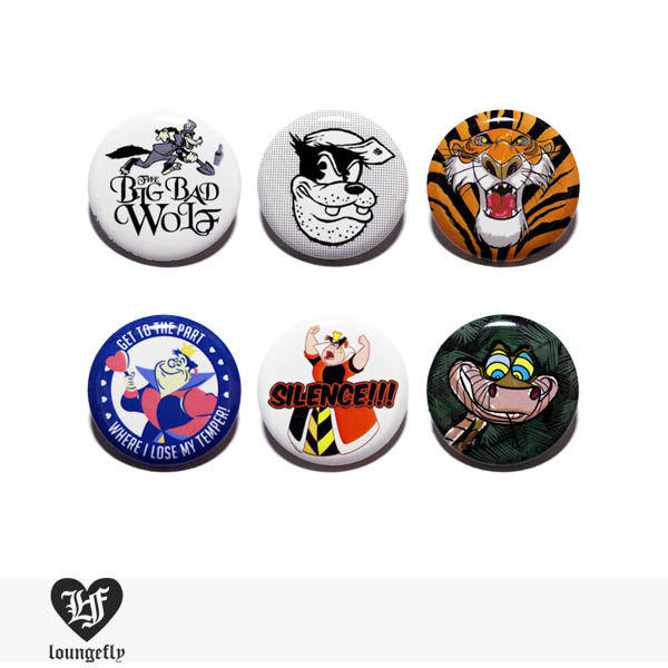LOUNGEFLY × DISNEY PIN Series3 VILLAINS 【C】 / ラウンジフライ 缶バッチ