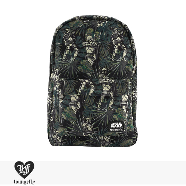 LOUNGEFLY × STAR WARS BOBA FETT/LEAVES PRINT BACKPACK / ラウンジフライ バッグ