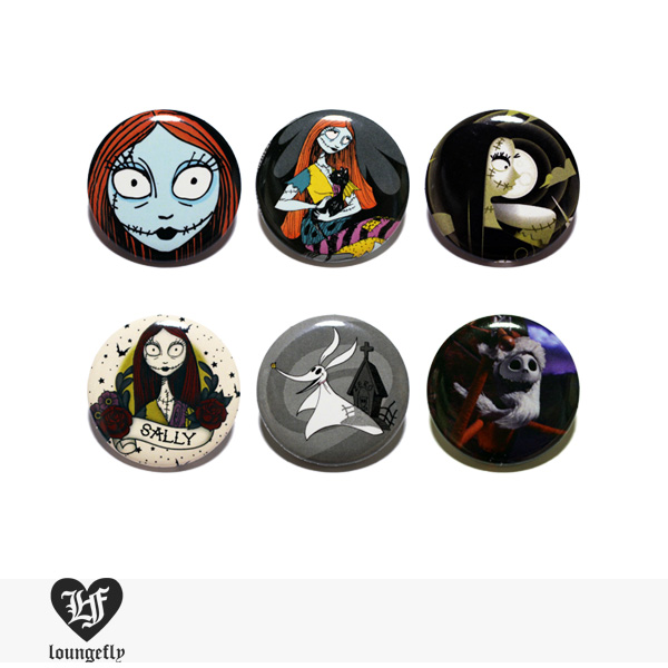 LOUNGEFLY × DISNEY NIGHTMARE BEFORE CHRISTMAS PIN 【C】 / ラウンジフライ 缶バッチ