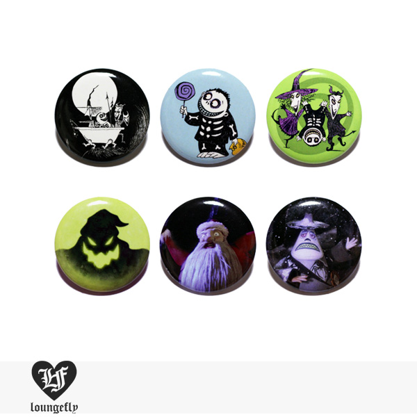 LOUNGEFLY × DISNEY NIGHTMARE BEFORE CHRISTMAS PIN 【D】 / ラウンジフライ 缶バッチ