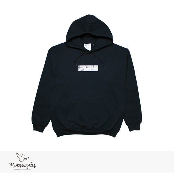 MARK GONZALES BOX LOGO & COPY RIGHT PULLOVER HOODIE | BLACK / マークゴンザレス パーカー