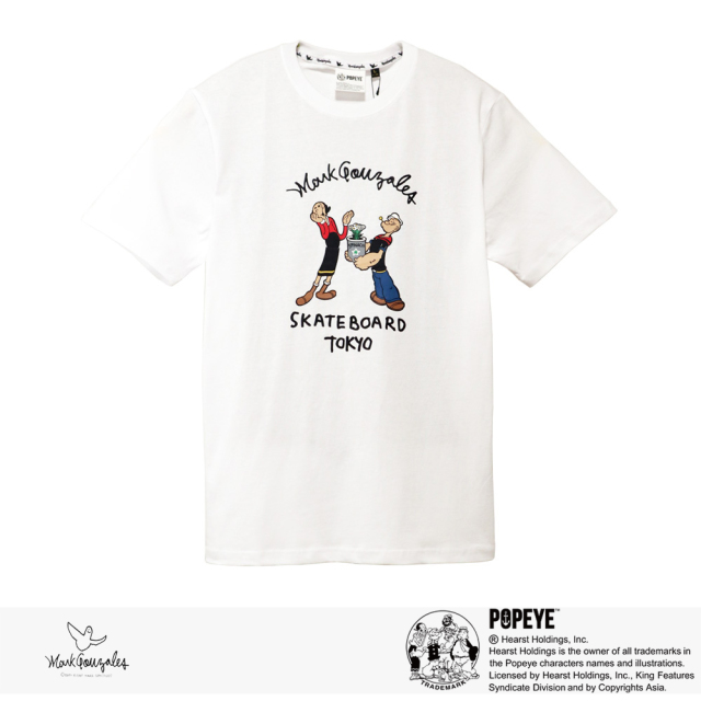 2020 S/S MARK GONZALES × POPEYE ARCH LOGO S/S TEE | WHITE / マークゴンザレス Tシャツ