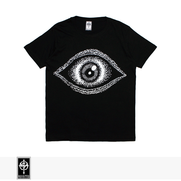 MAD HATTER EYE S/S TEE | BLACK / マッドハッター